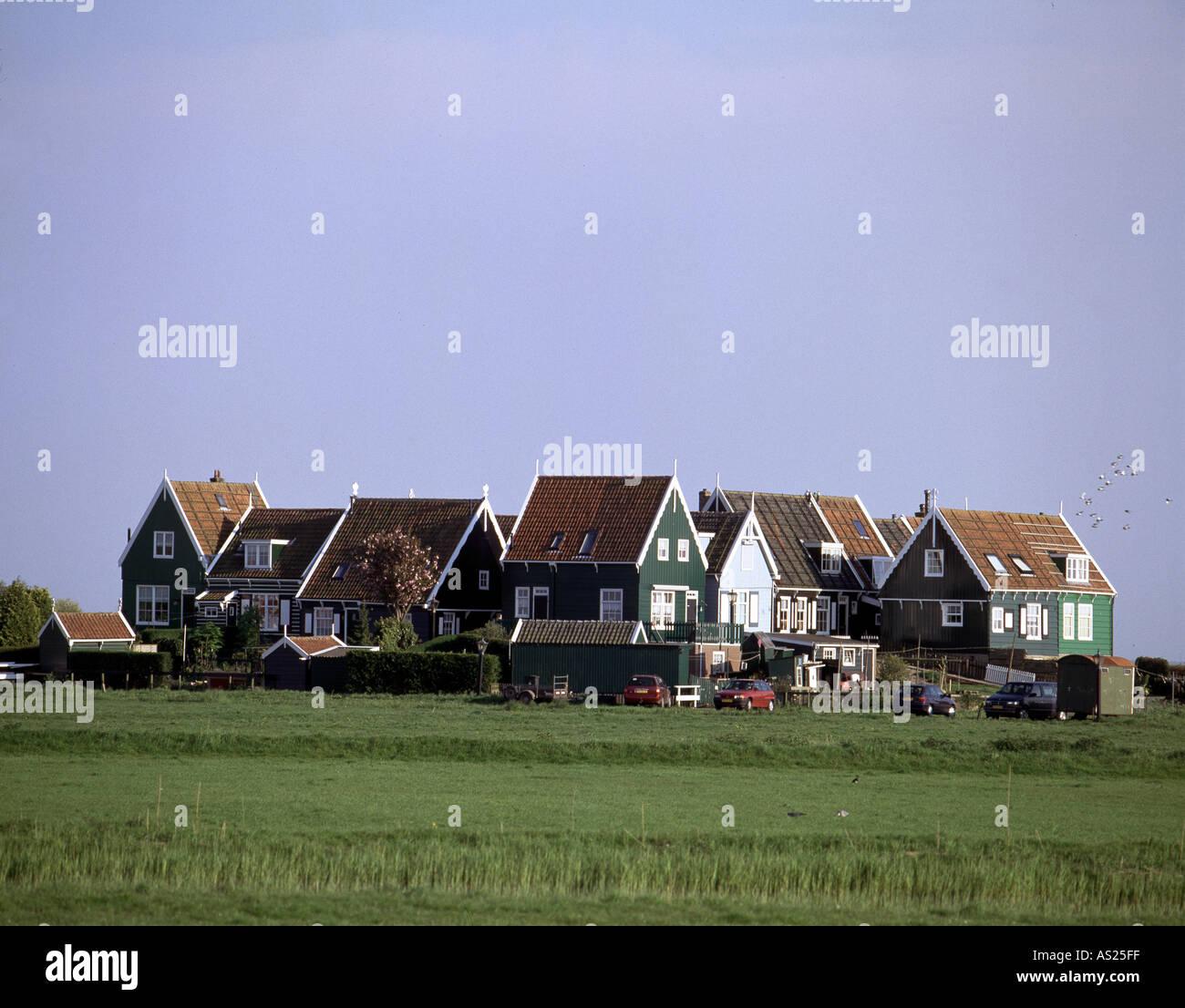 Marken, Kerkbuurt, - Stock Image