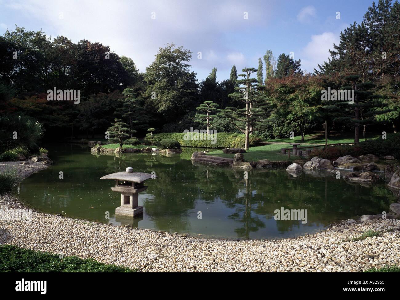 Düsseldorf Nordpark Japanischer Garten Stock Photo 1583444 Alamy