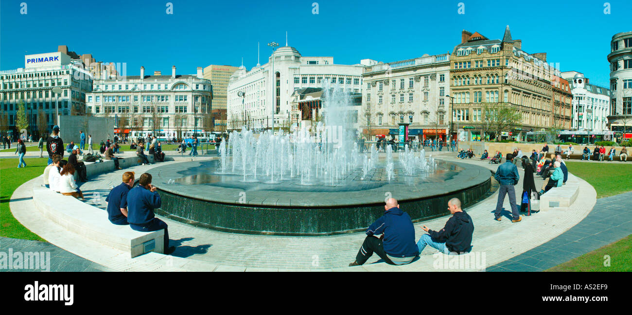 Piccadilly Gardens Manchester City centre UK Europe Stock Photo