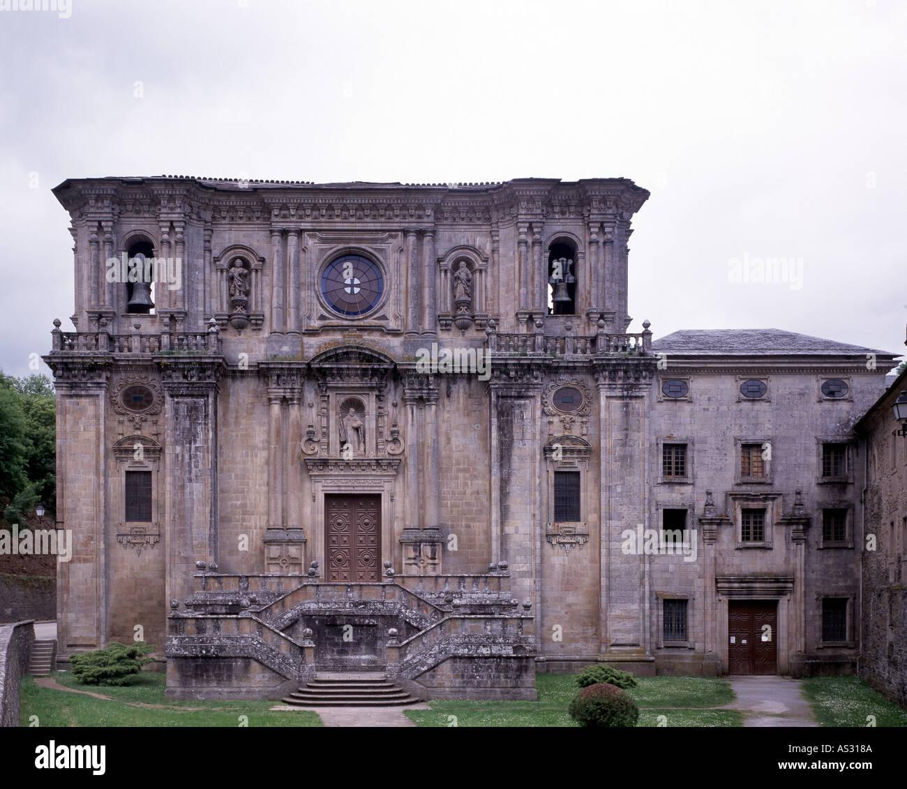 Samos, Kloster San Julian de Samos, Fassade  18. Jahrhundert - Stock Image
