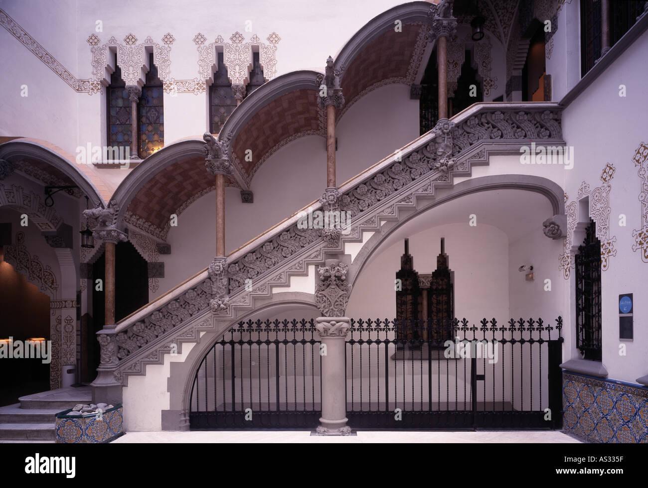 Barcelona,  Casa Macaya, Architekt: Josep Puig i Cadafalch 1901 - Stock Image