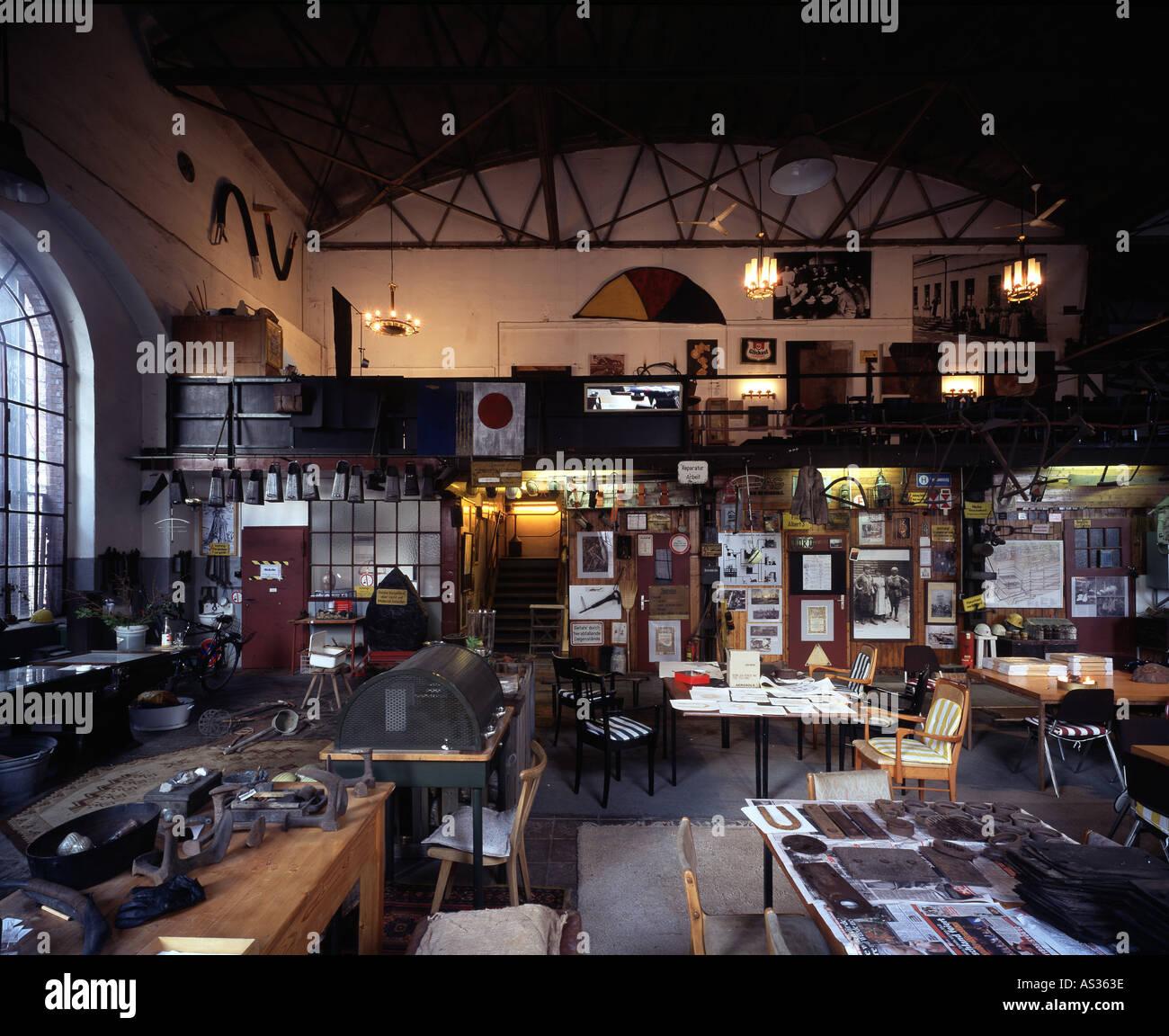 Essen, Zeche Zollverein, Kunstschacht, Atelier Thomas Rother - Stock Image