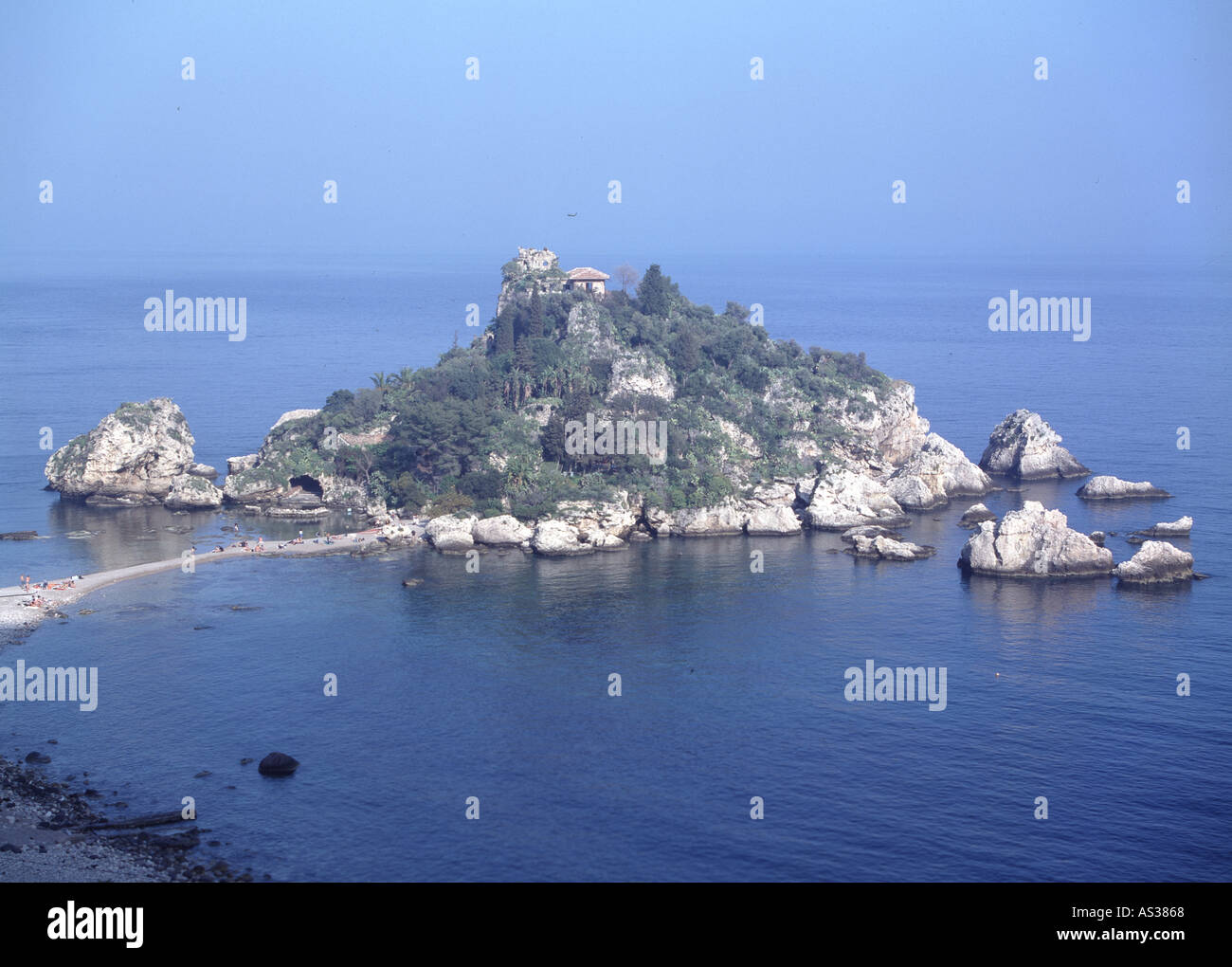Taormina, Isola Bella, - Stock Image