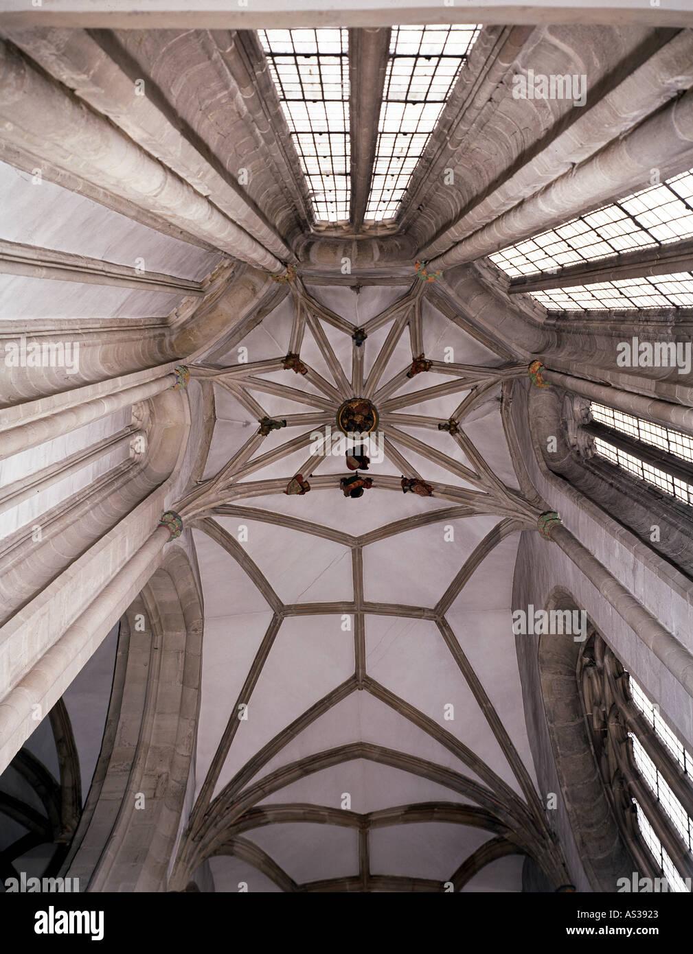 Halle, Moritzkirche, Gewölbe im nördlichen Nebenchor - Stock Image