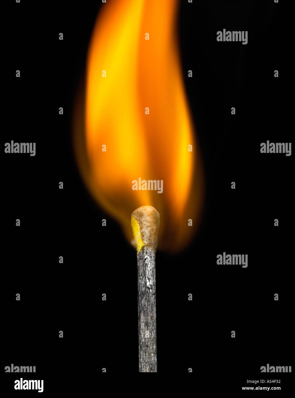 match flame - Stock Image