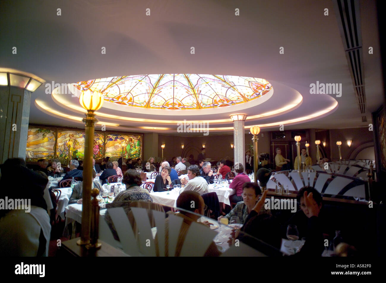 Stained Glass Window Restaurant Brasserie Stock Photos & Stained ...