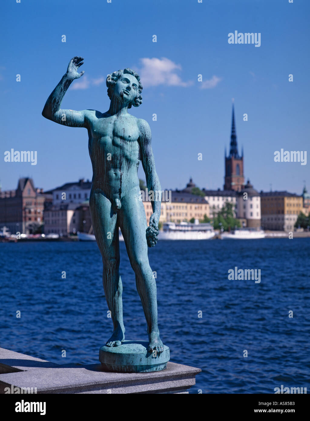 Statue at City Hall Stockholm Sweden - Stock Image
