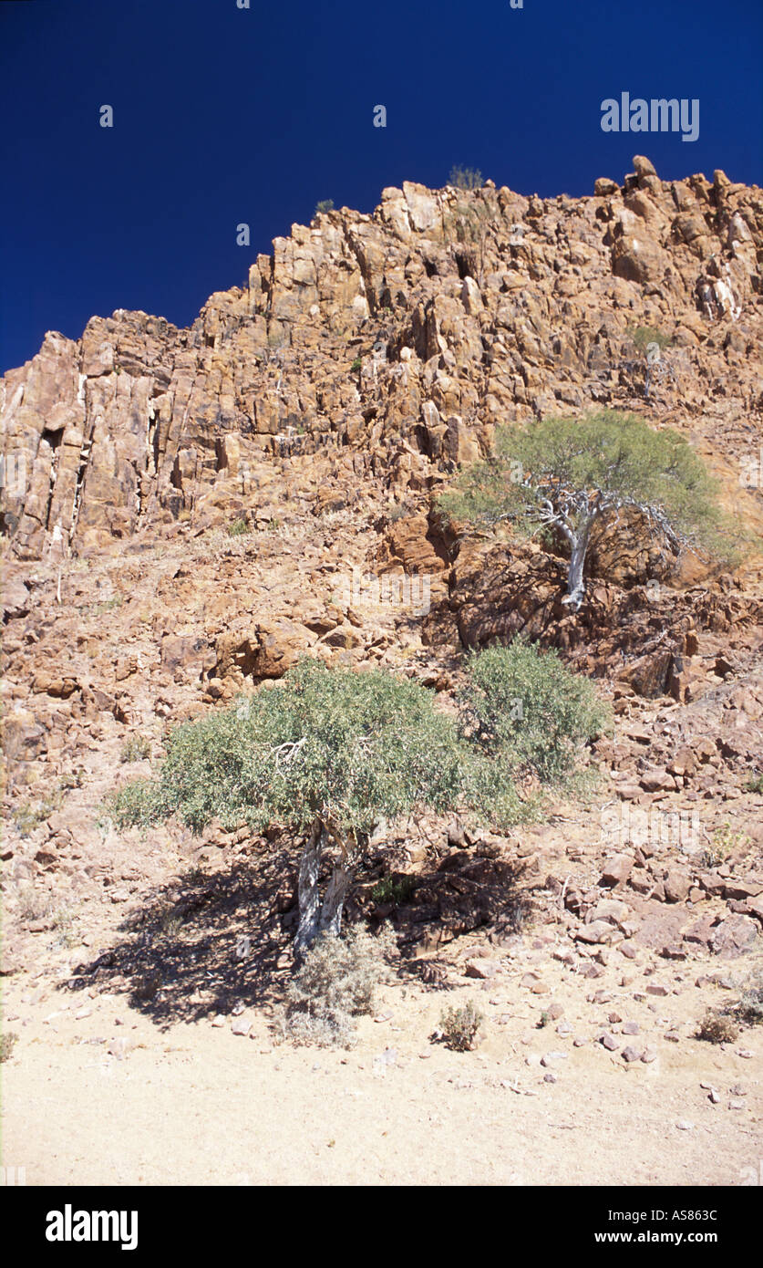 Ancient eroded rocks of the Uis area Namibia - Stock Image