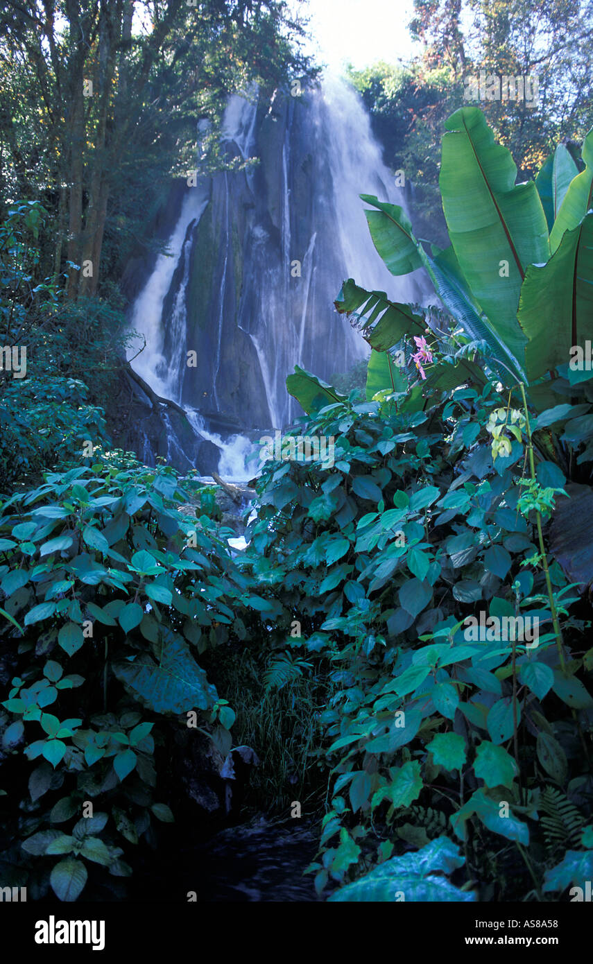 The waterfalls outside Nebaj a pleasant walk from town Ixil Triangle Guatemala - Stock Image