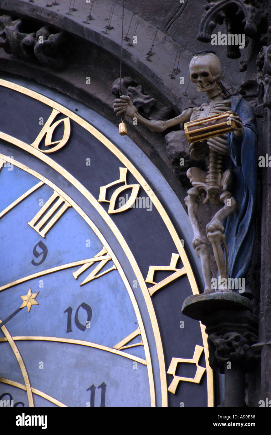 Detail of Astronomical Clock in Old Town Square Prague - Stock Image