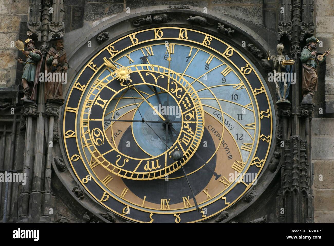 The Astronomical Clock Prague - Stock Image