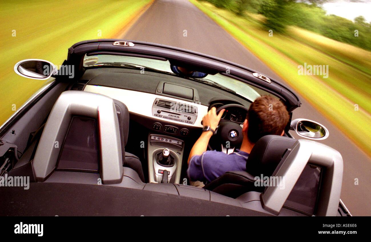 Driving Open Top Car Interior Bmw Z4 Interior Stock Photo 1631973
