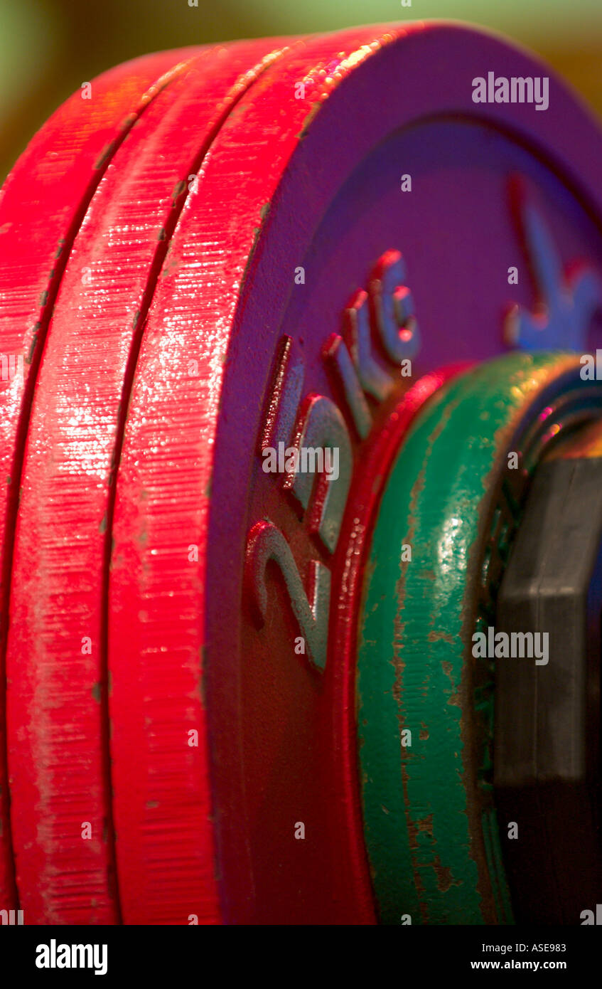 25 kilogram weight disc - Stock Image