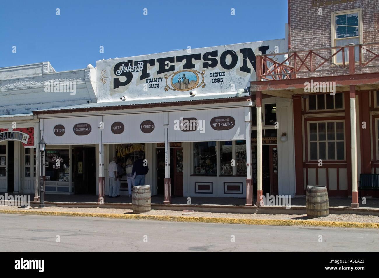 Stetson Hat Shop Main Street Tombstone Arizona Usa Stock Photo Alamy