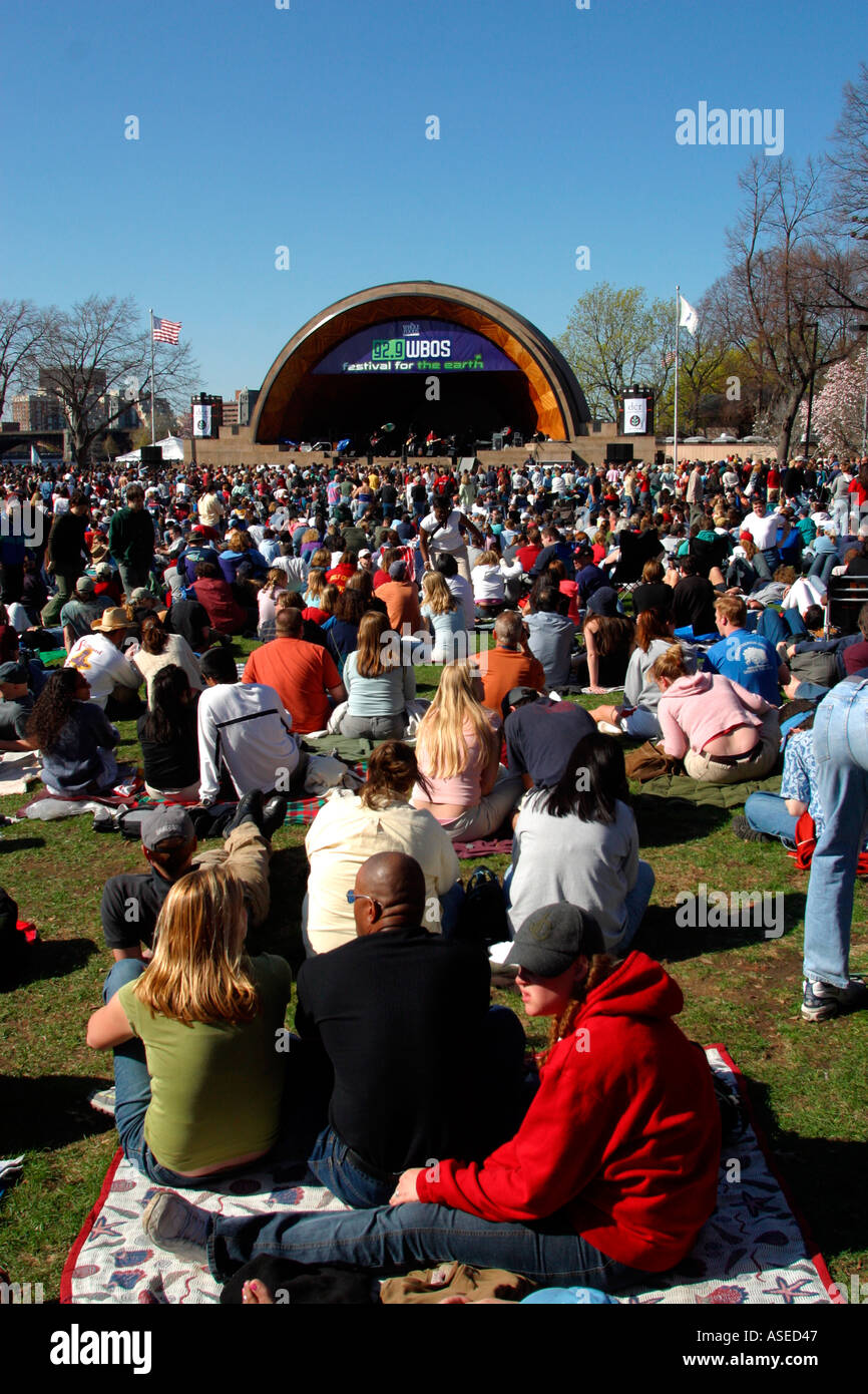 Free Concert at Hatch Shell Boston MA - Stock Image