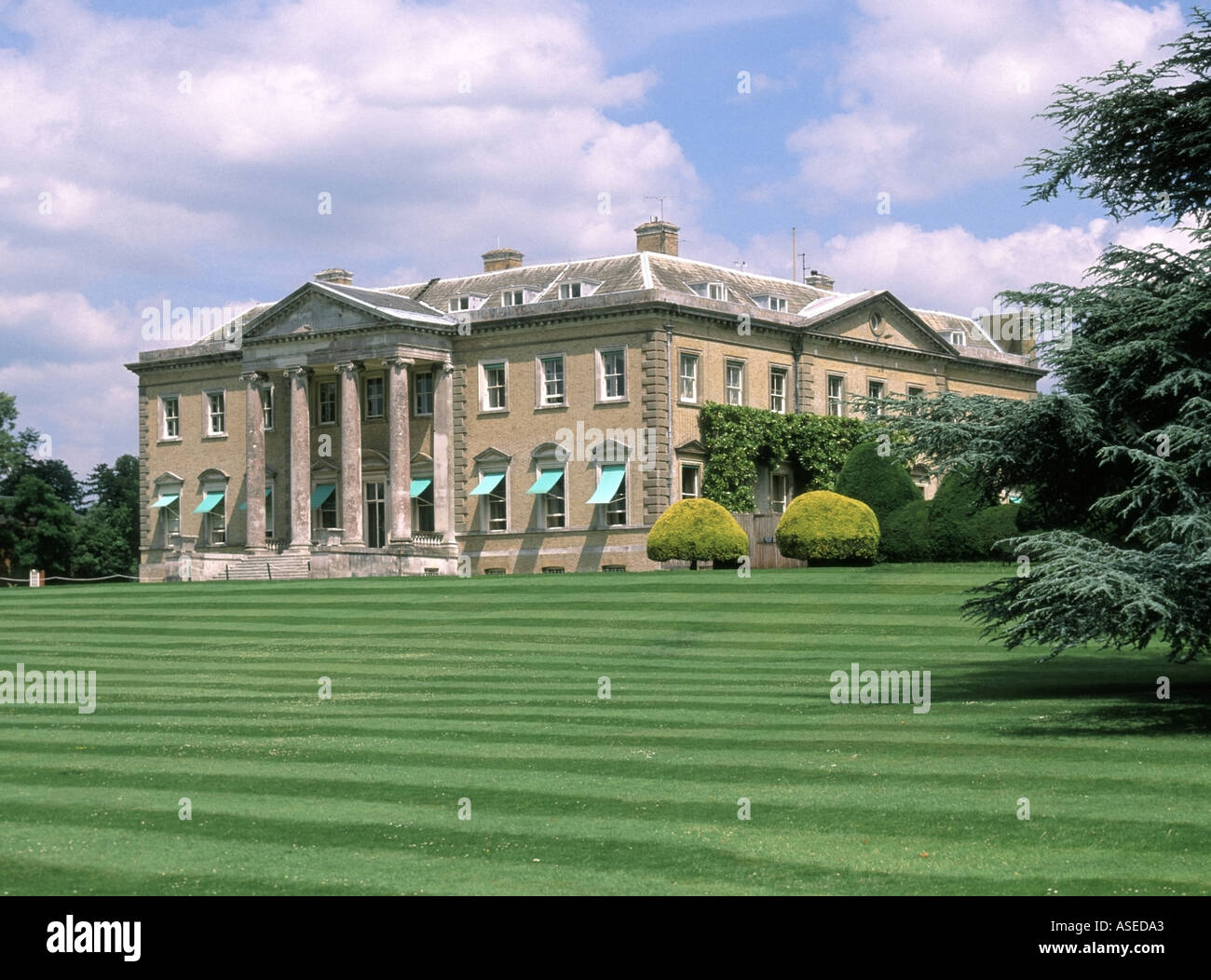 Broadlands homes to Lord Mountbatten and previously country residence of Lord Palmerston now the home of Lord Romsey - Stock Image