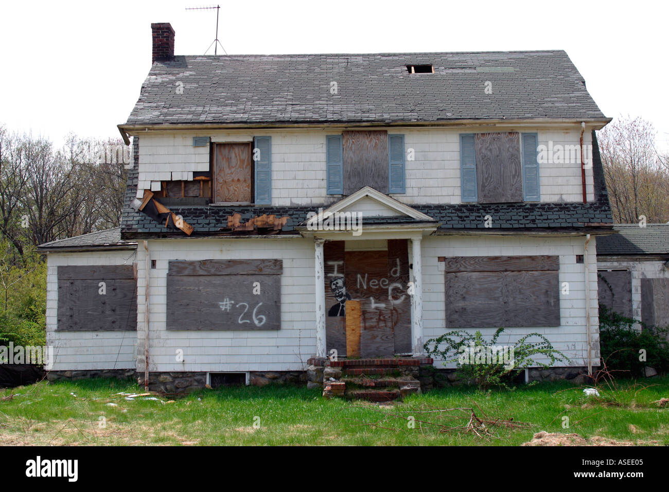 abandoned home - Stock Image