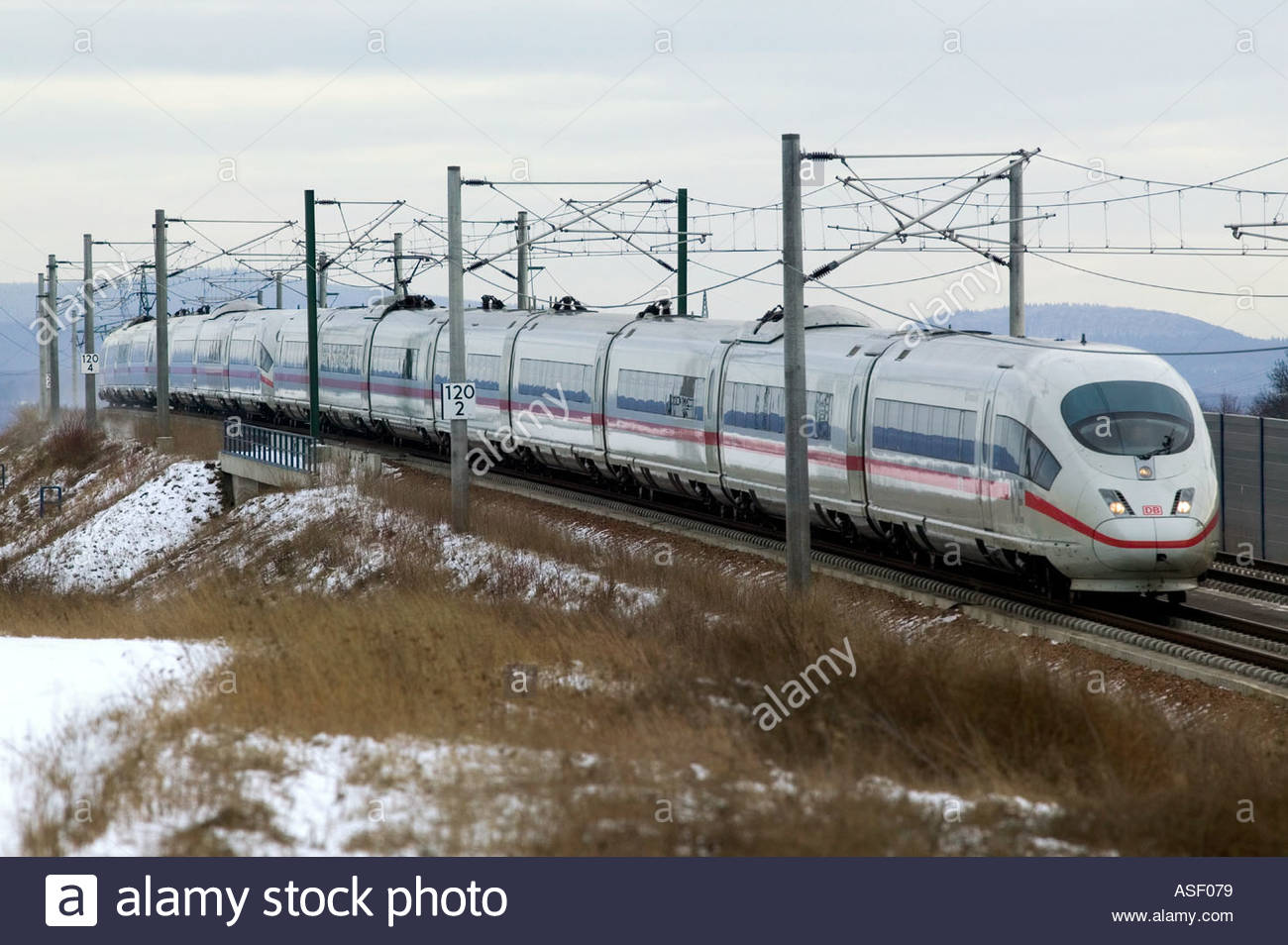 ice high speed train fast tracks transportation connection traffic