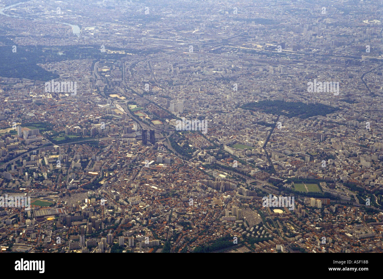 A view of Paris from above - Stock Image