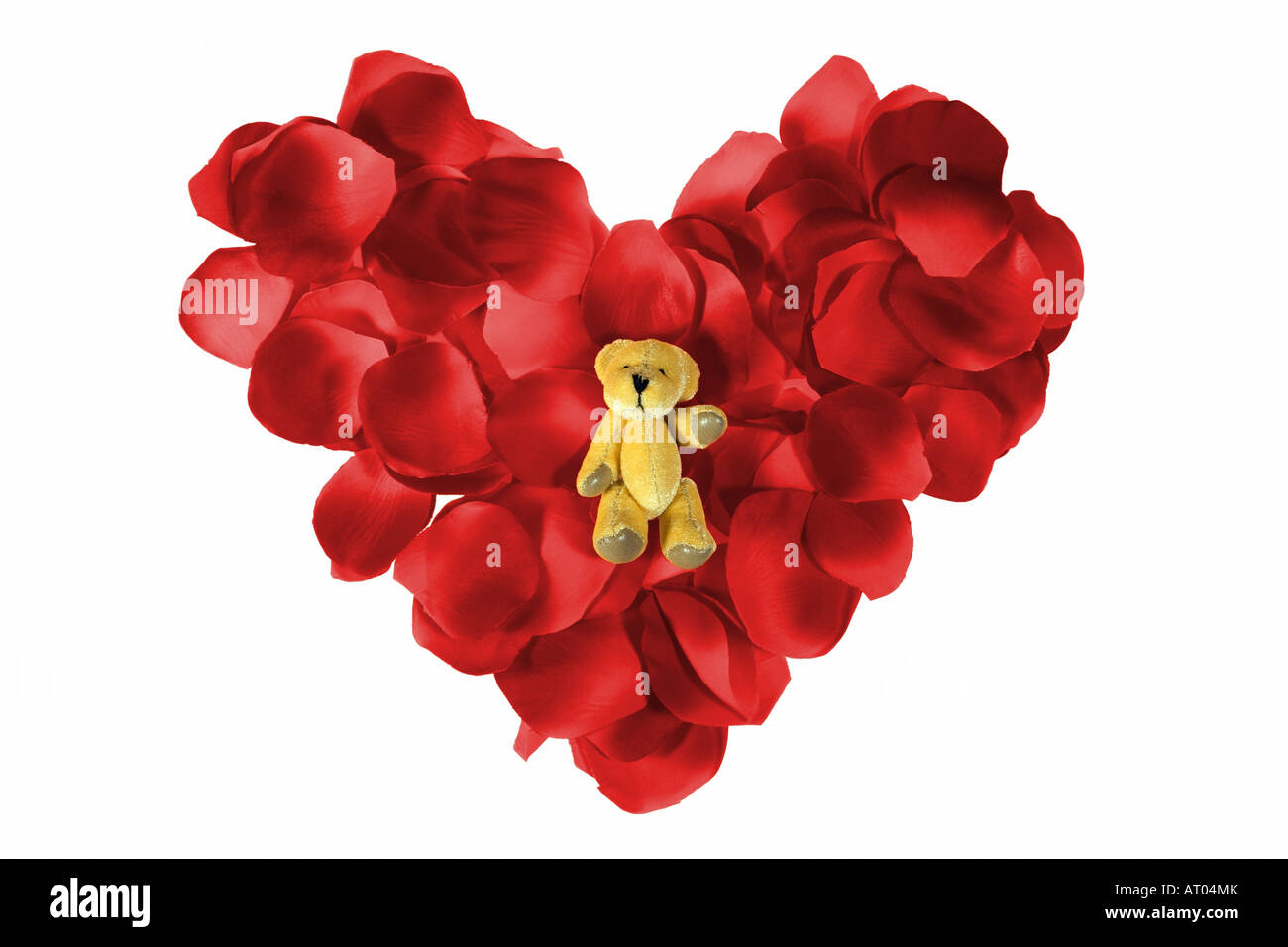 Teddy Bear In A Petal Heart