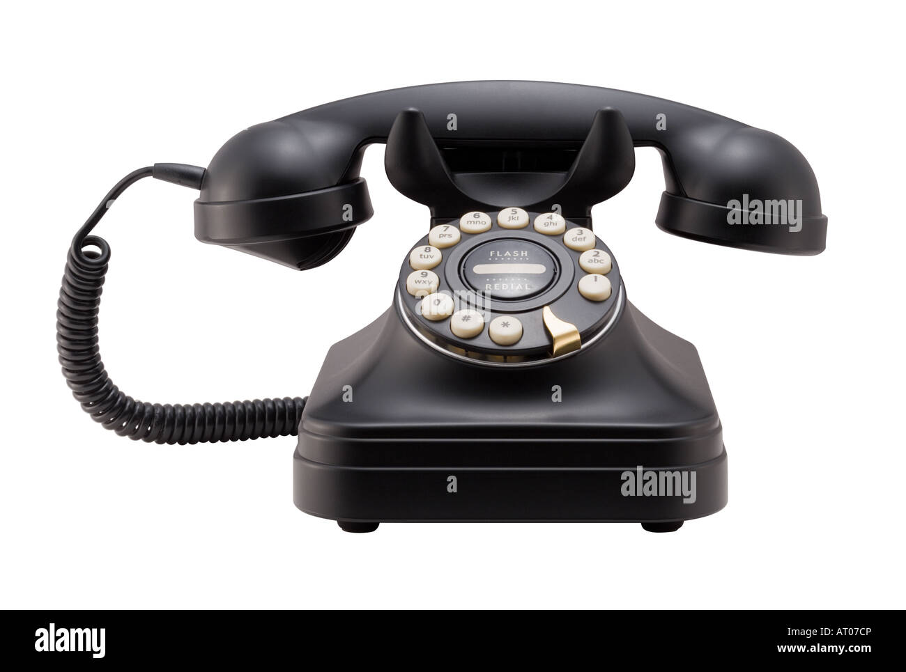 Old Phone Isolated - Stock Image