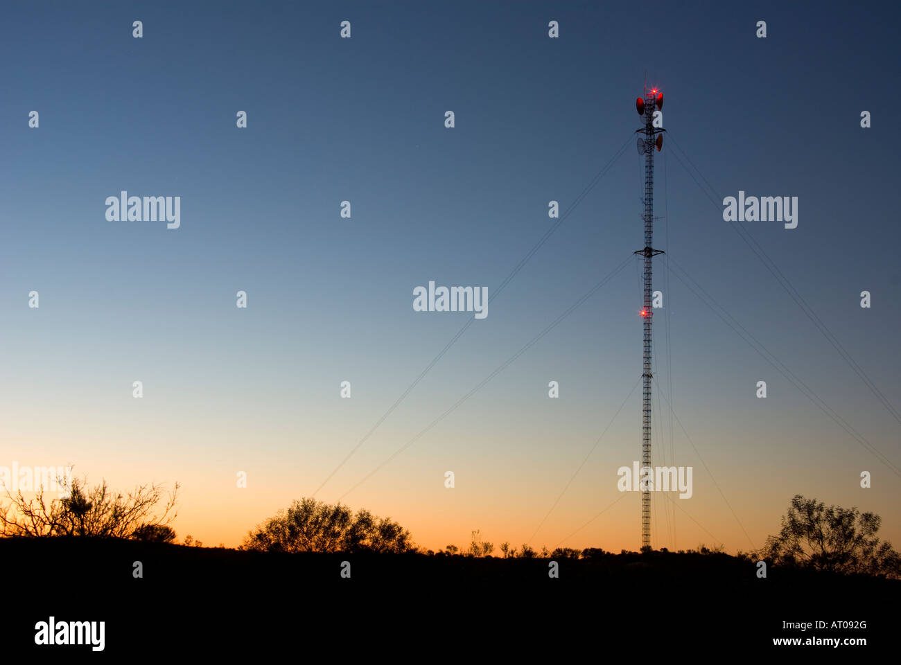 Radio Tower in outback - Stock Image