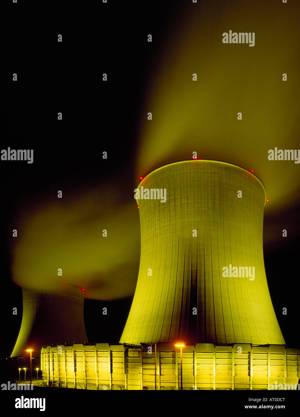 Nuclear plant Thionville, France Stock Photo