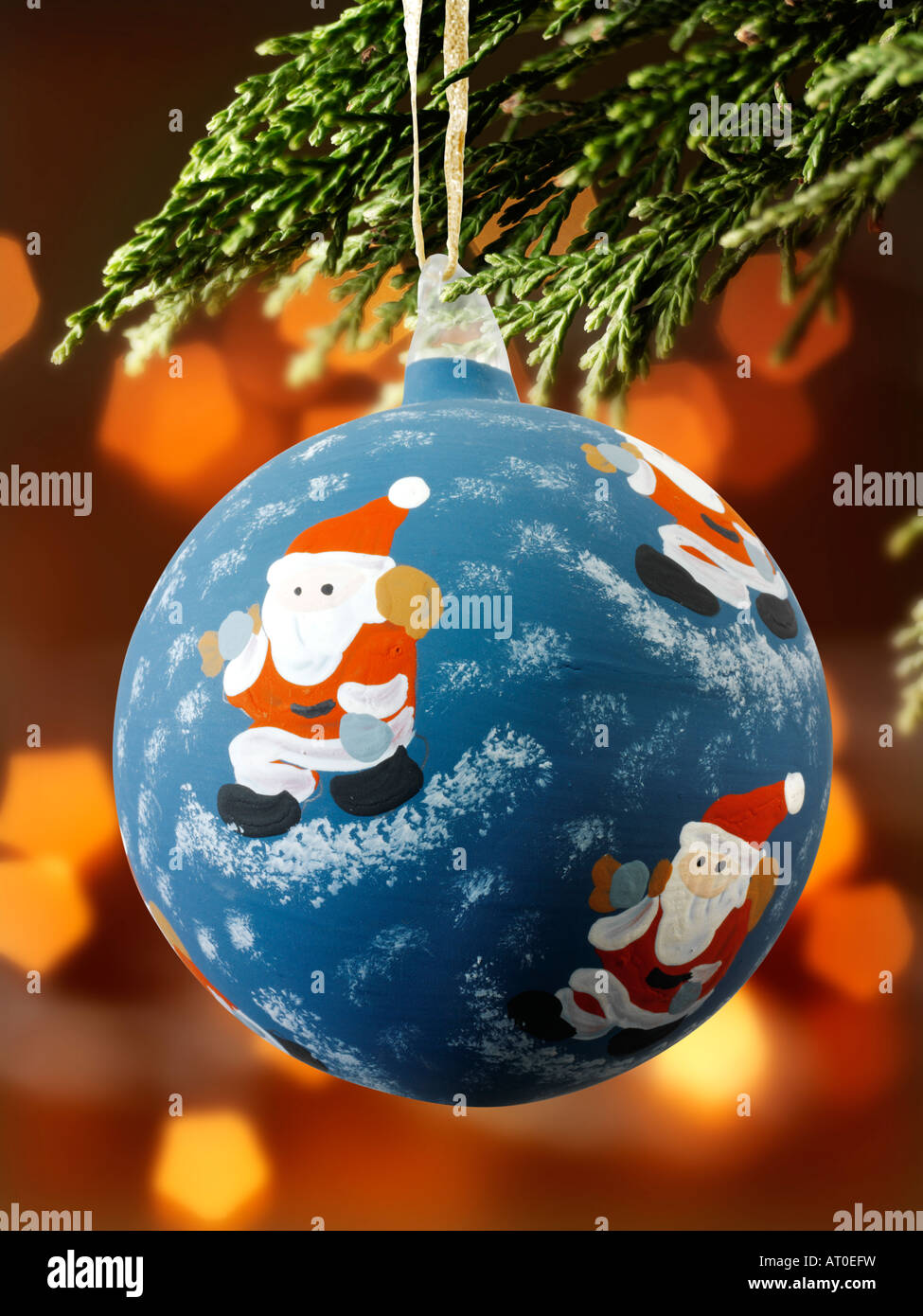 'christmas baubles' - Stock Image