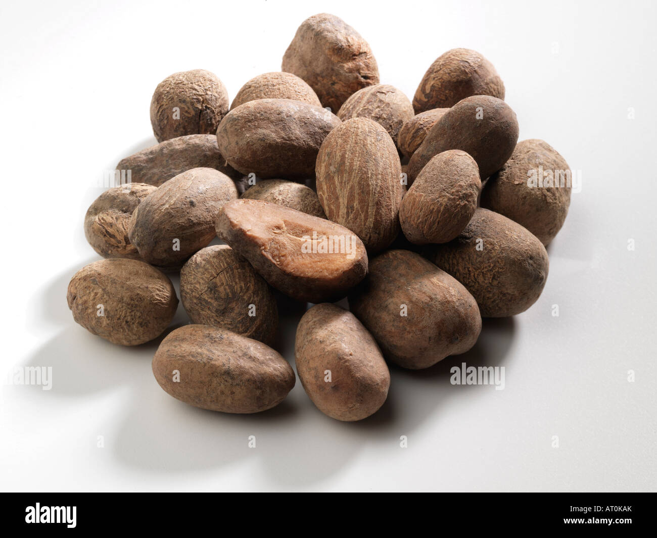 Pile of Shea Nuts Stock Photo