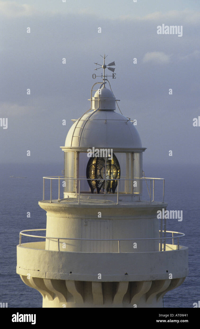 Lighthouse of Igualdo Mountain San Sebastian The Basque Country Spain - Stock Image