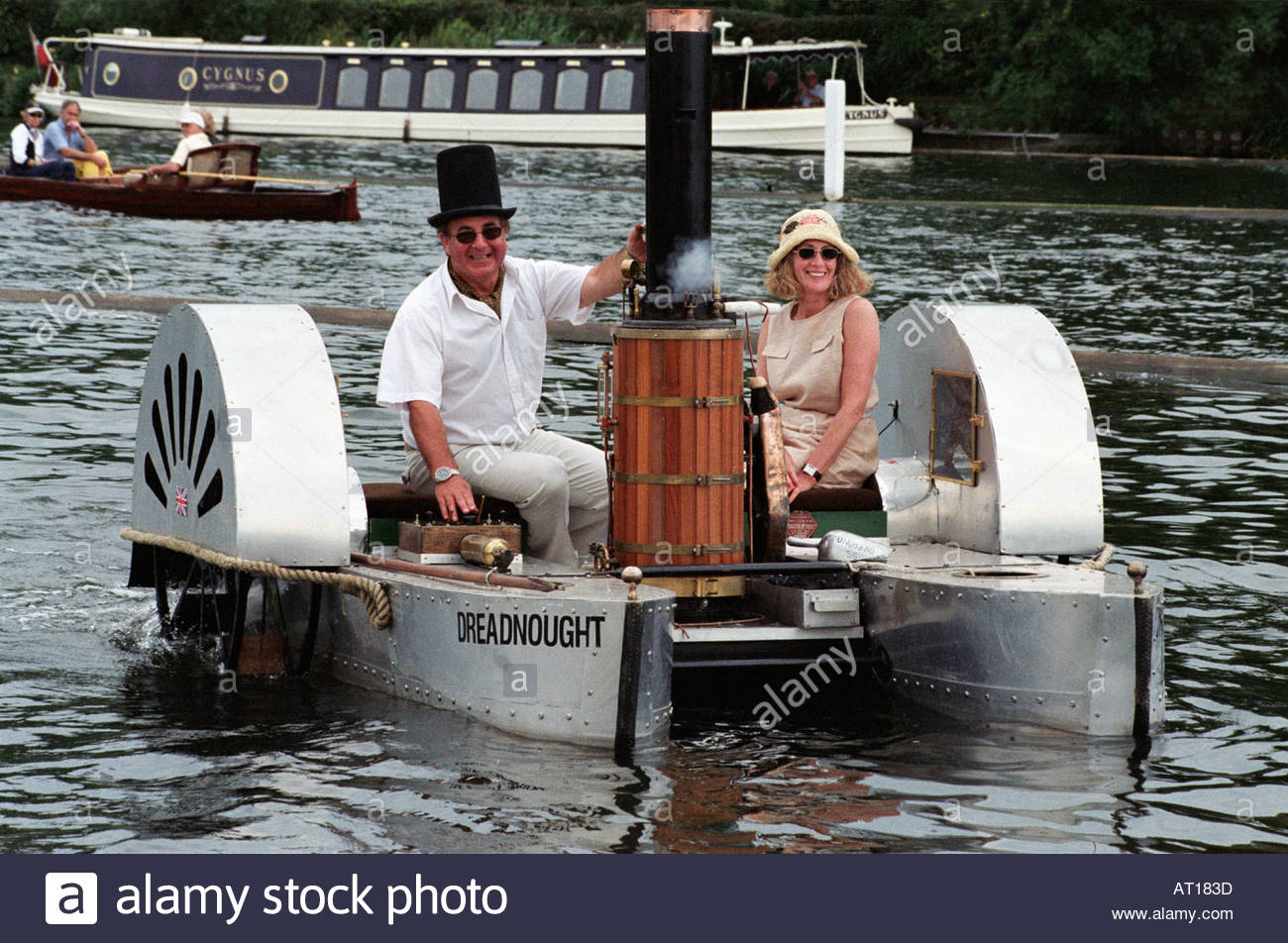 Home Made Steam Paddle Boat At The Traditional Rally Henley UK