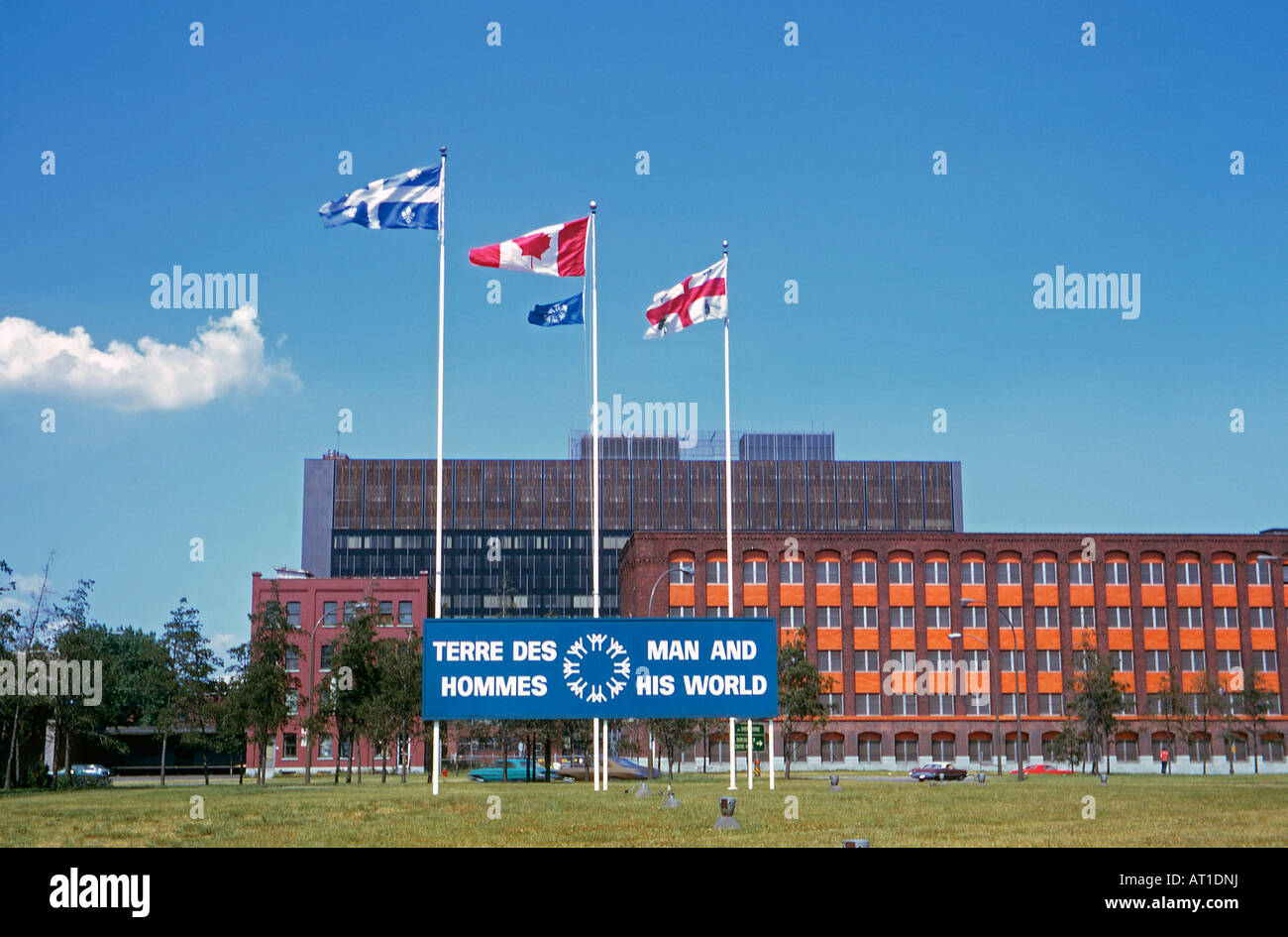 Sign for the Montreal Expo exhibition, Man and his World, 1973 - Stock Image