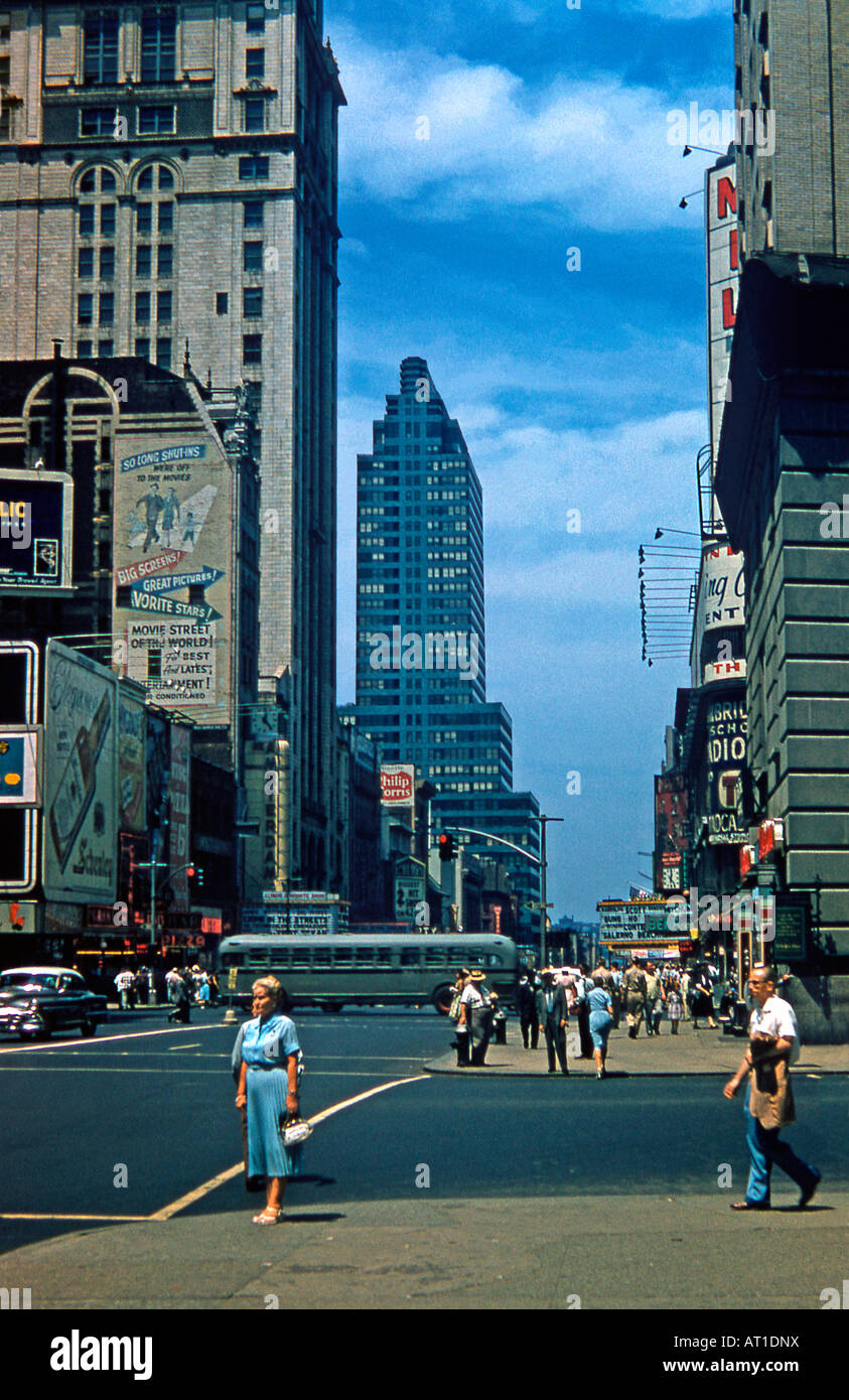 West 42nd Street, New York City, USA, 1956 - Stock Image