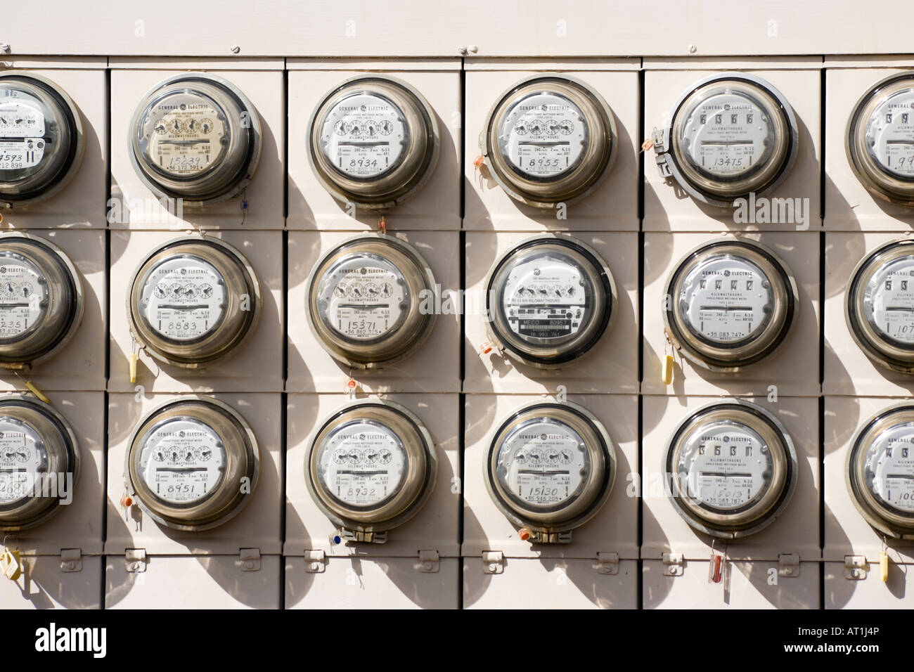 Electric Meters Wailuku Maui Hawaii - Stock Image