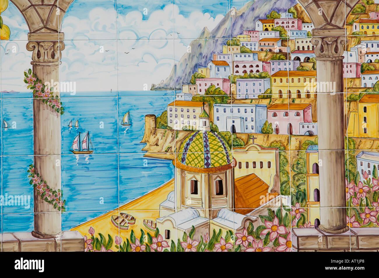Europe Italy Campania Amalfi Coast Positano Ceramic