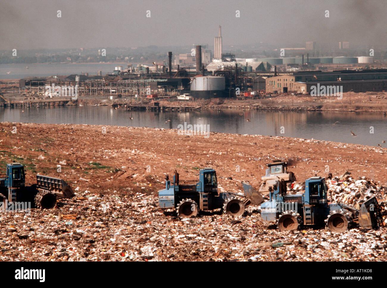 The Fresh Kills landfill in Staten Island in New York City ...