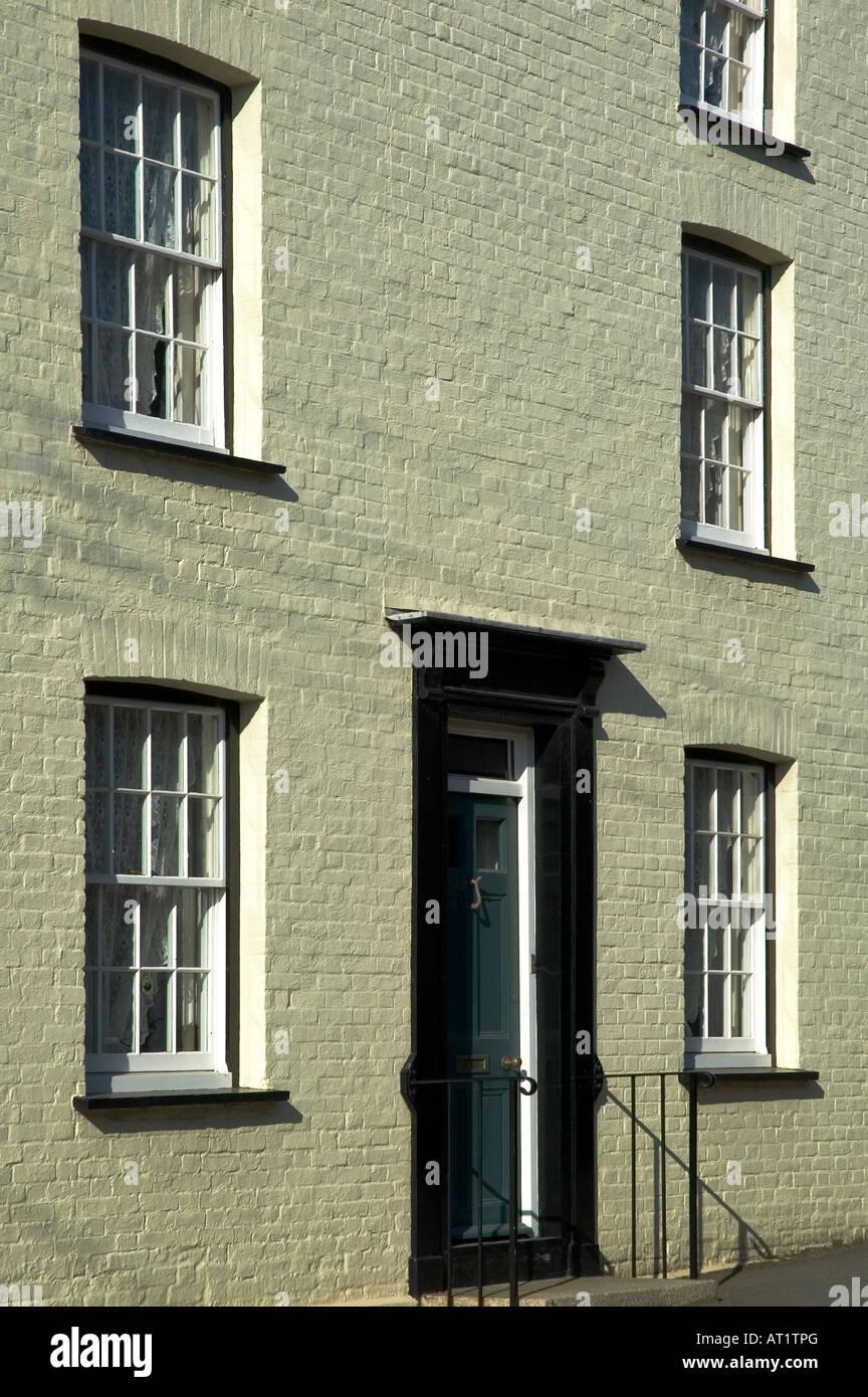 refurbished victorian town house in mylor bridge,cornwall,england - Stock Image