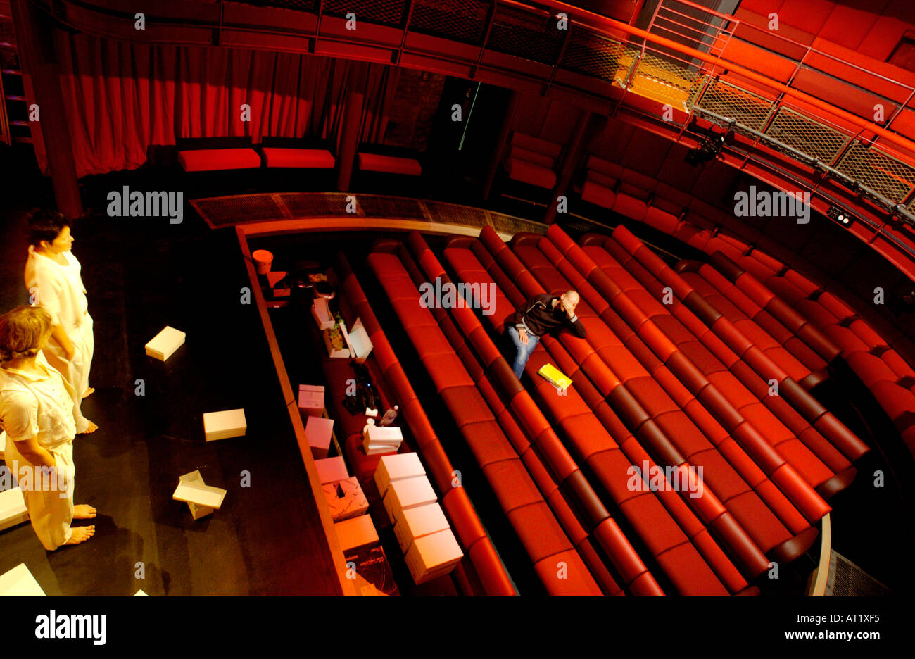 Rehearsals for a production at the Egg Theatre Bath England UK - Stock Image
