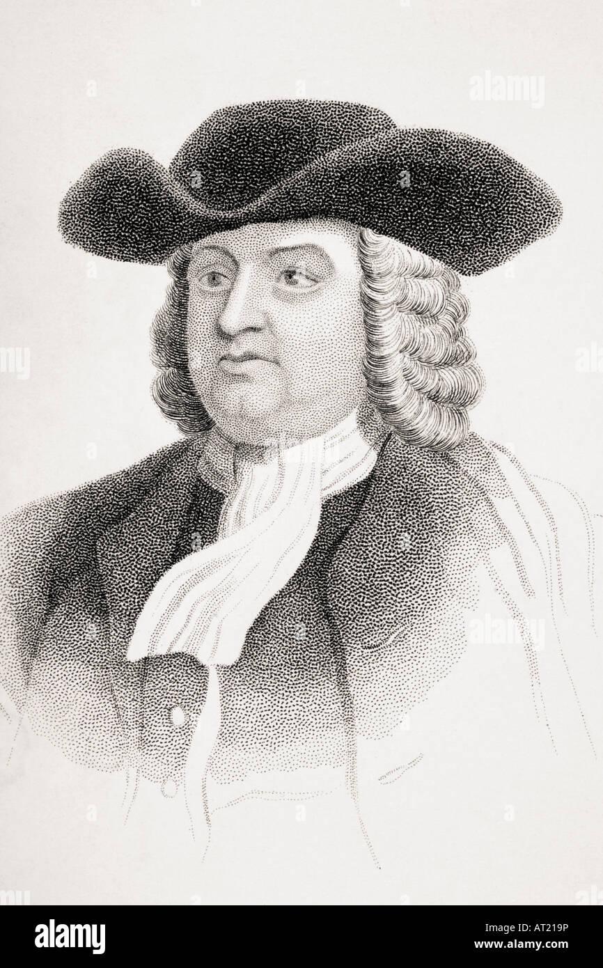 William Penn, 1644 - 1718.  English Quaker leader. Stock Photo