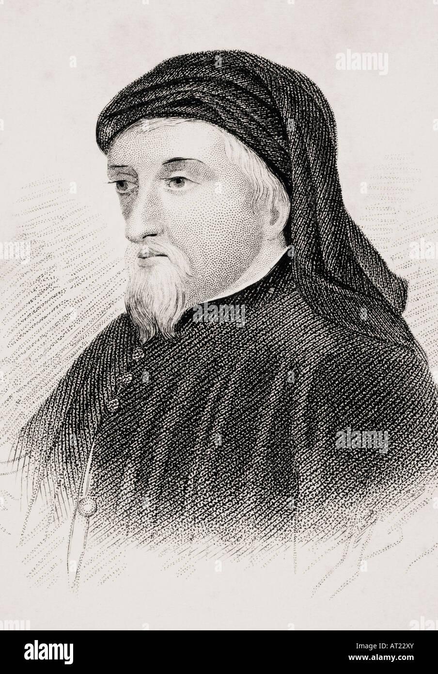 Geoffrey Chaucer c 1342 3 1400 English writer - Stock Image