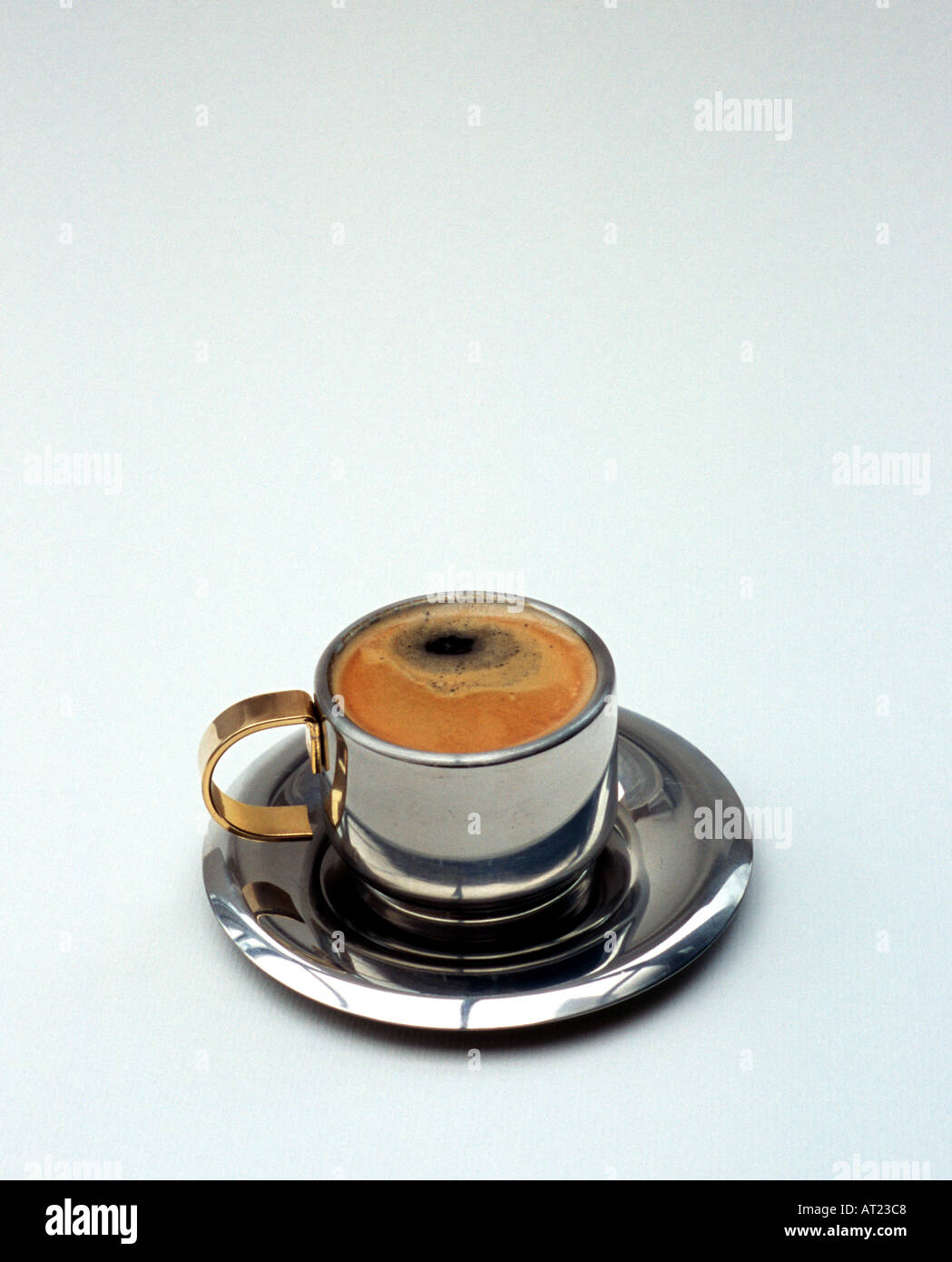 Expresso in chrome - Stock Image