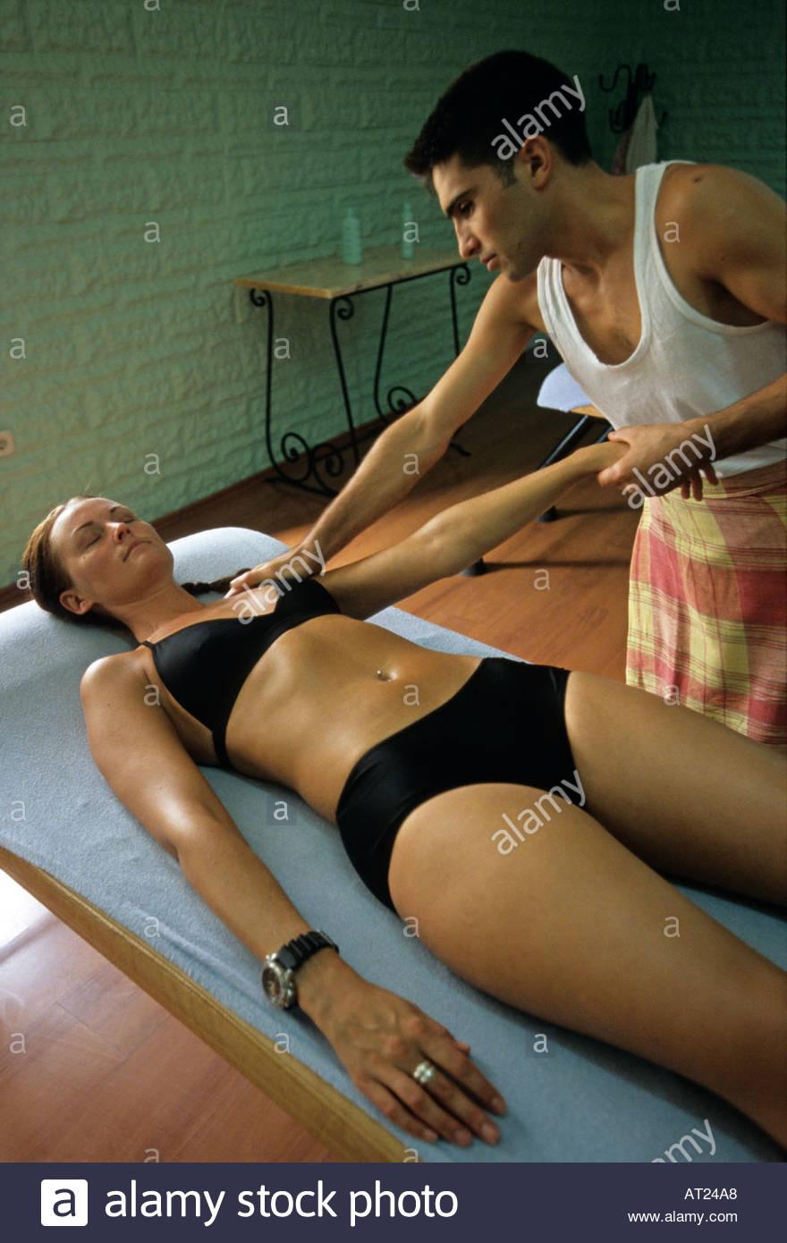 Woman recieveing massage Turkish Baths Marmaris Southern Aegean ...