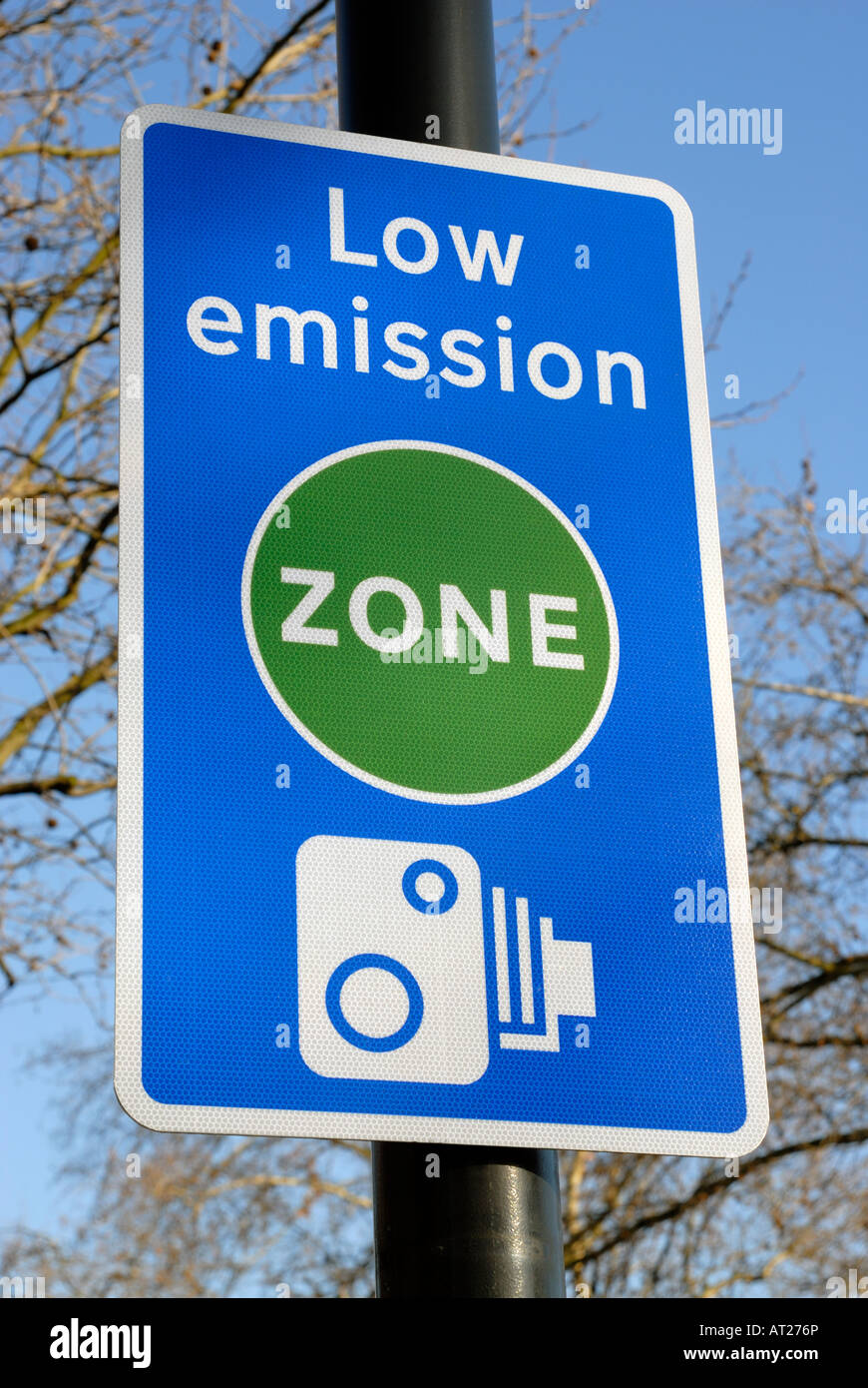 Low emission zone London - Stock Image