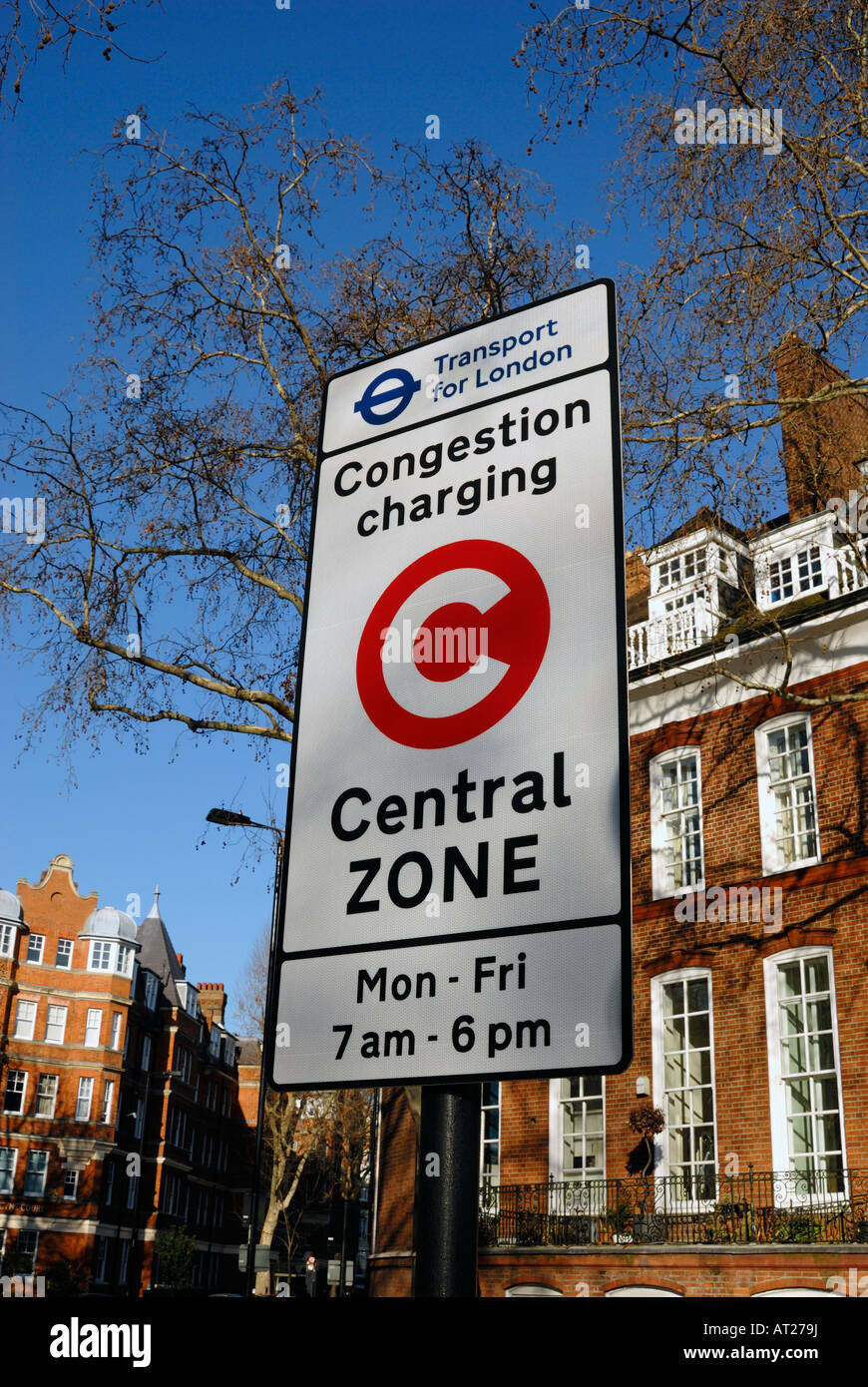 Congestion Charging Central Zone London - Stock Image