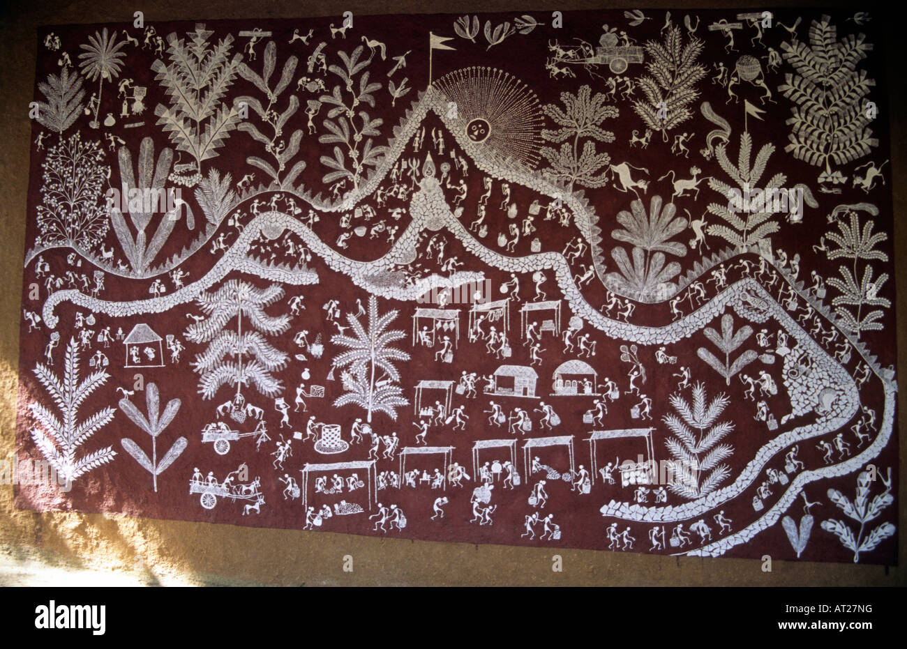 Warli painting on the wall of house warli tribe thane maharashtra warli painting on the wall of house warli tribe thane maharashtra india altavistaventures Image collections