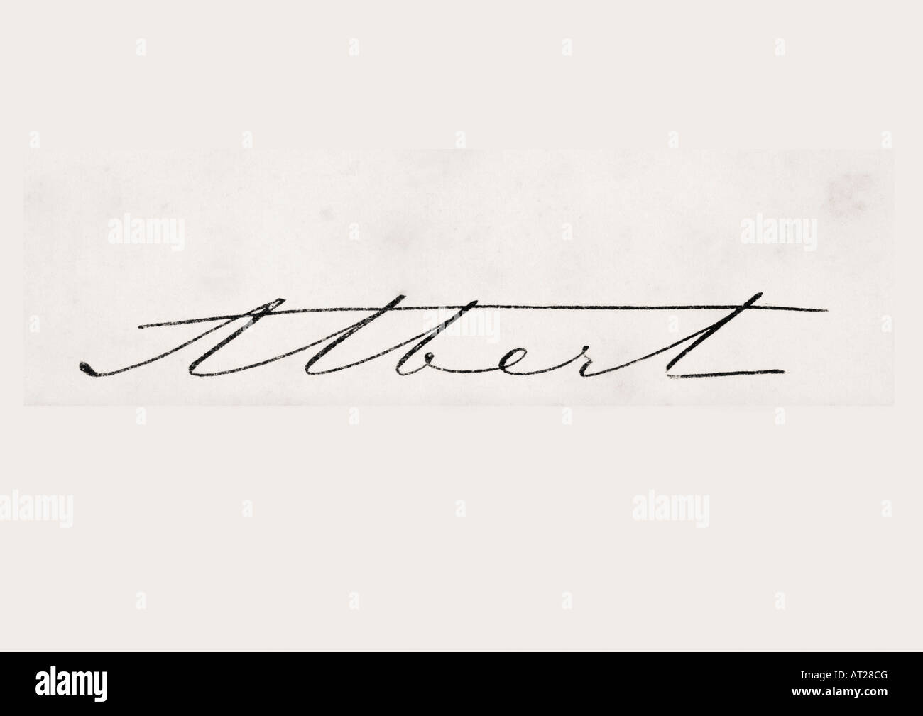 Signature of Albert Prince Consort of Great Britain and Ireland - Stock Image
