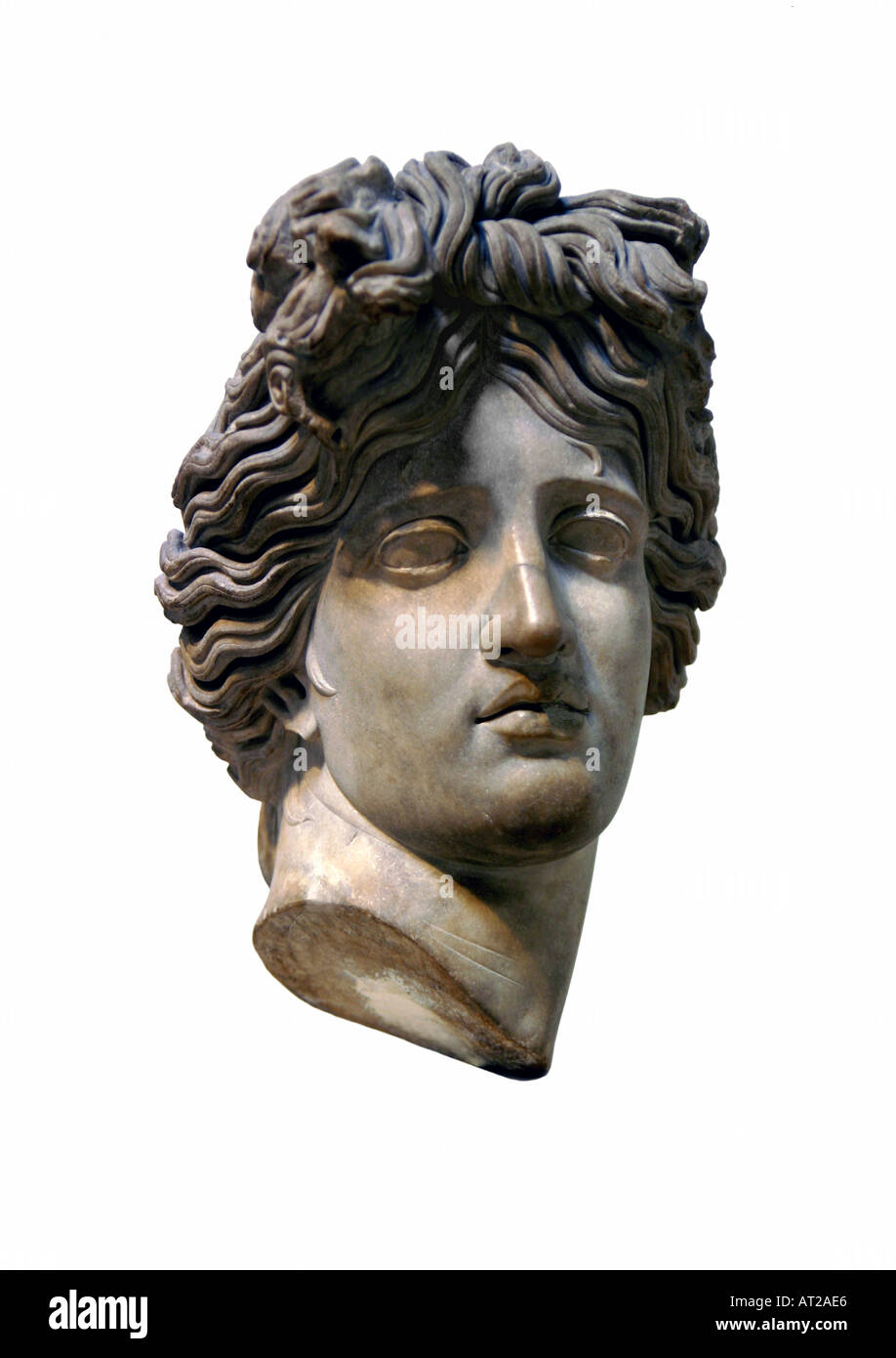 Bust of The Greek God Apollo - Stock Image