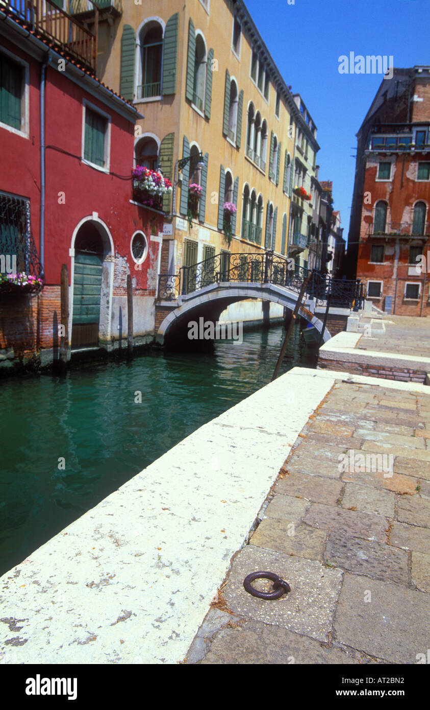 Canal in Venice near the Academia, Italy, Europe - Stock Image