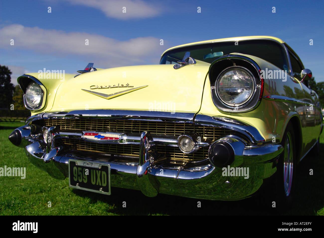 1957 Chevrolet Bel Air 2 Door Sedan American Classic Car Stock Photo Chevy
