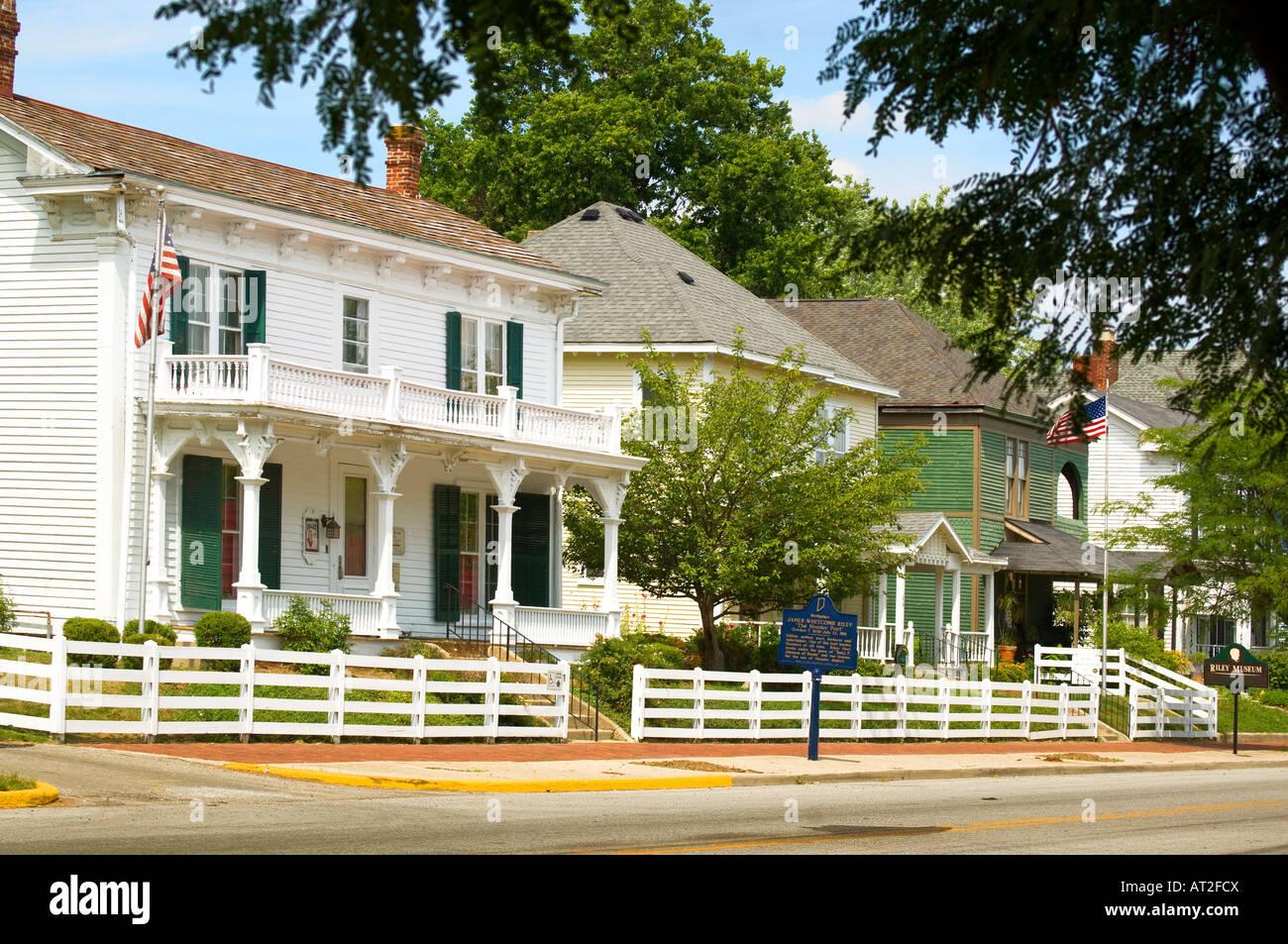 James Whitcomb Riley Boyhood Home, Greenfield Indiana - Stock Image